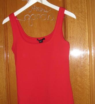 Camiseta tirante roja mango talla 36/38