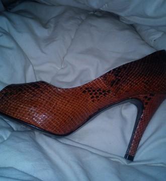 peep toe de piel fosco tostados print serpiente 39
