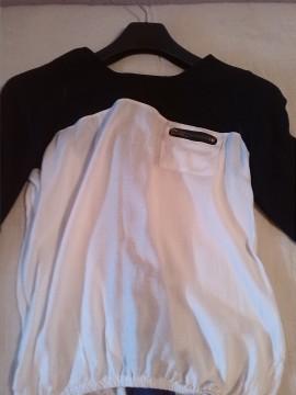 camisa negra y blanca