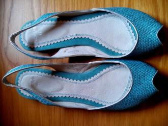 zapatos de verano rejilla azul turquesa talla 40