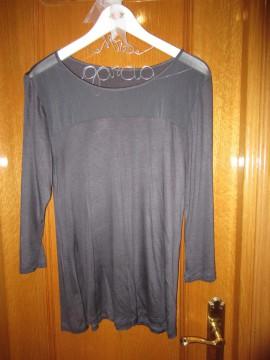 Camiseta hym semitransparente gris talla m