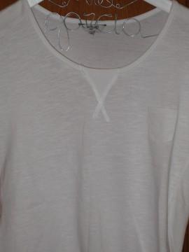 Camiseta blanca bajo asimetrico el corte ingles