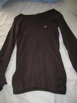 Camiseta benetton marron chocolate talla S