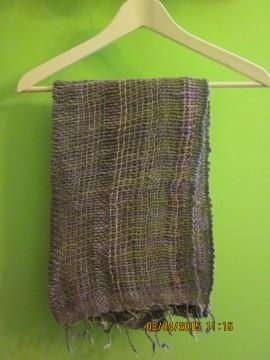 Bufanda tonos morados y verdes