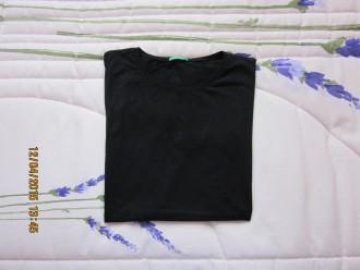 Camiseta básica negra mangas cortas