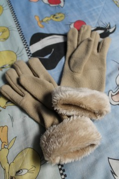 Guantes beis
