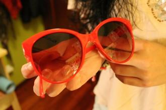 Gafas rojas hym
