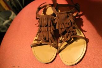 Sandalias de flecos