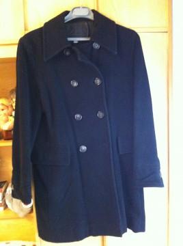 Abrigo negro de Zara talla M