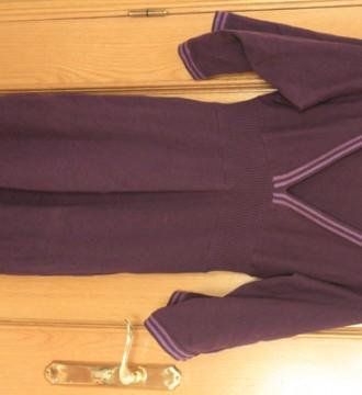 vestido morado punto