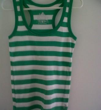 Camiseta de rayas verde-agua
