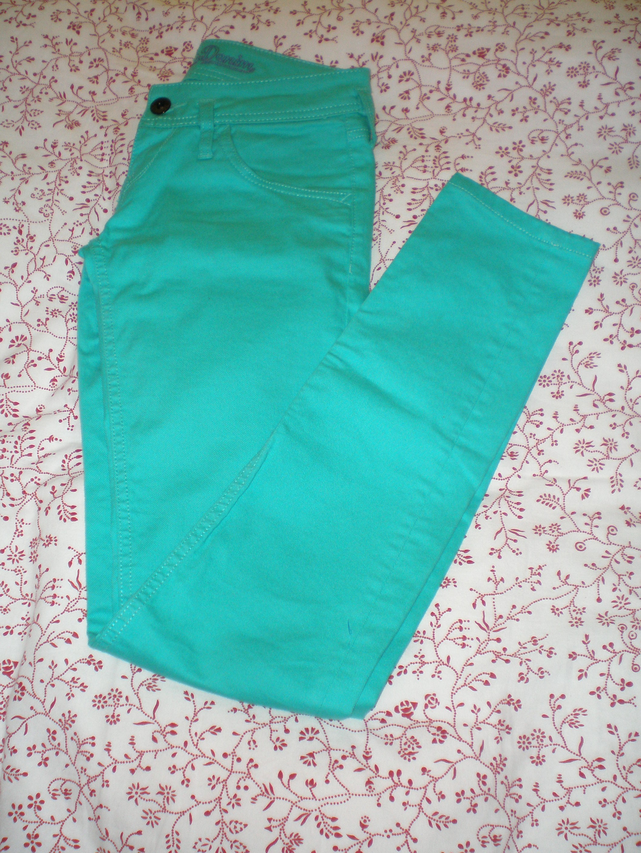 Pantalon turquesa tommy hilfiger
