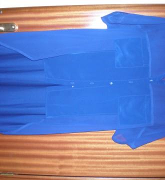 Camisa azul asimetrica de zara