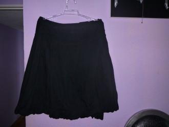 falda negra de algodon