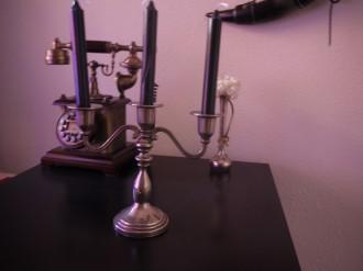 candelabro de metal y candelabro de forja