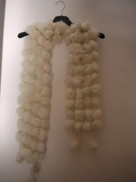 bufanda de piel de conejo