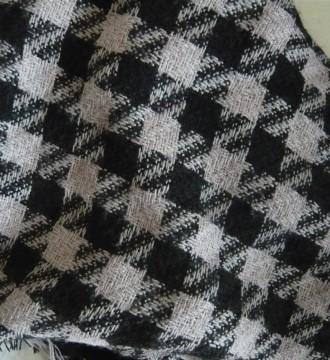 Pañuelo blanco/negro pata de gallo