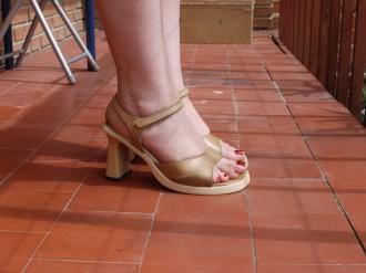 sandalias piel,,mustang,,