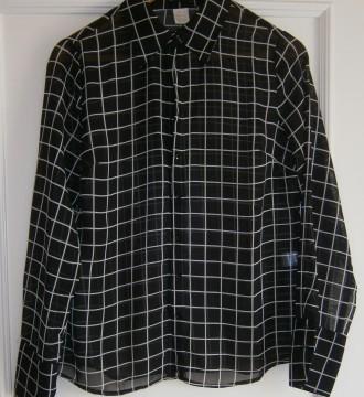 Camisa semitransparente cuadros