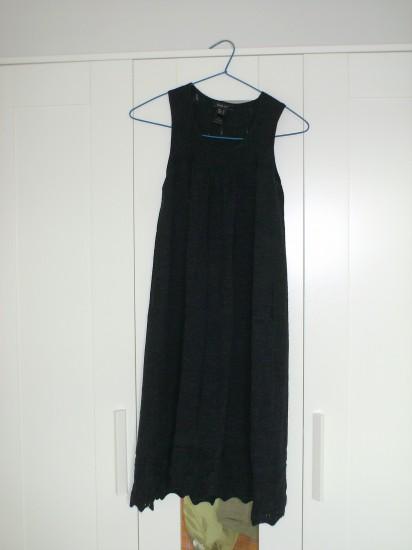 Vestido de punto gris oscuro, by Mango, talla M