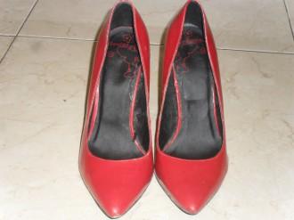 Zapato charol rojo