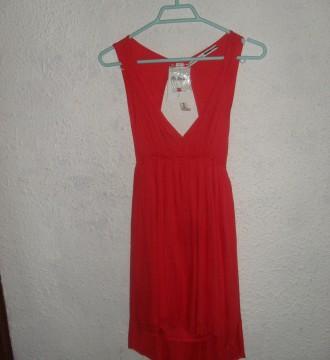 Vestido rojo asimétrico