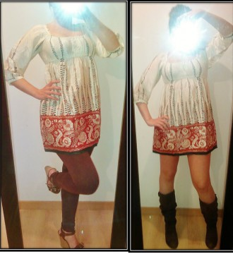 Vestido-Camiseta étnico. Stradivarius S