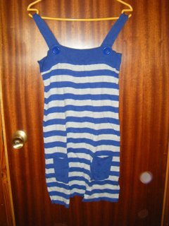 Vestido en rayas azul INSIDE