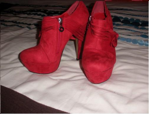 Botines rojos