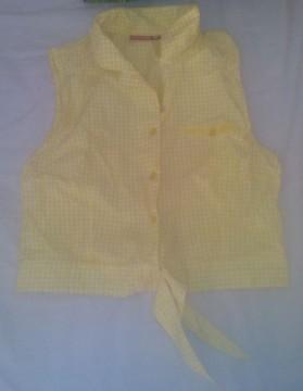 camisa amarilla cuadros