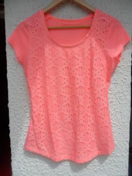 Camiseta Fluor Rosa T-M