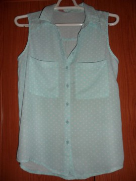 Camisa de lunares T-S (grande)