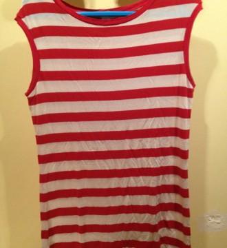 Camiseta marinera a rayas rojas Mango