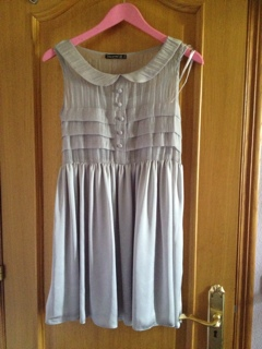 Vestido gris talla 8 uk