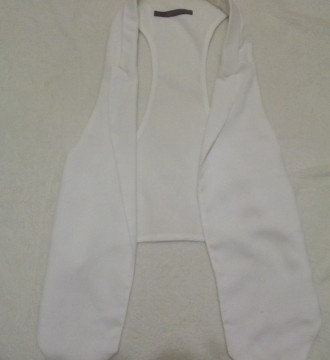 Chaleco Blanco Zara talla XS