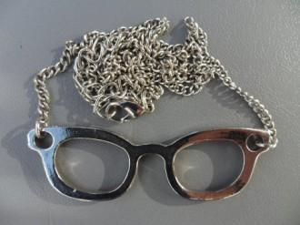 colgante de gafas reversibles plata o rosa