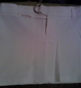 Falda blanca Bershka