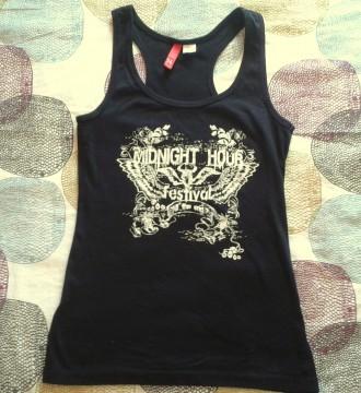 Camiseta festival H&M nadadora negra