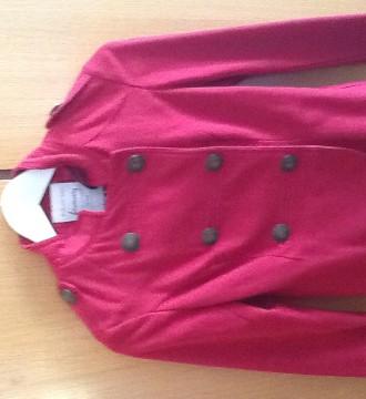 Chaqueta napoleonica de tela chandal roja, talla s