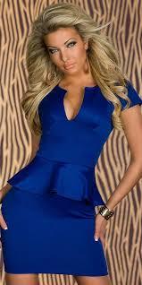 vestido sexy azul