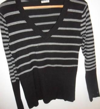 Jersey negro de rayas