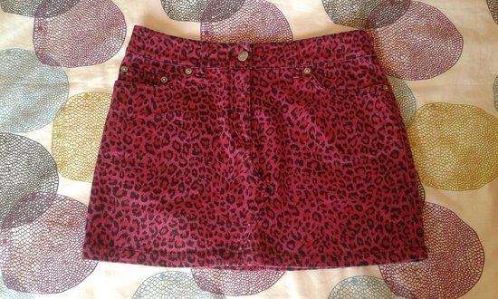 Falda leopardo rosa mini Darkside vaquera elástica
