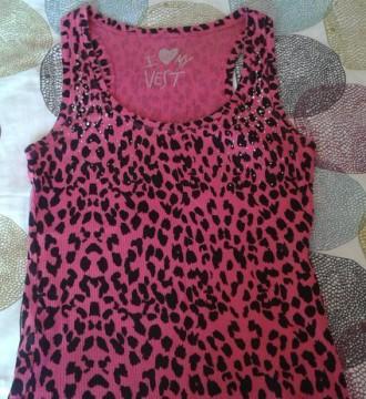 Top leopardo rosa tachuelas escote sexy camiseta