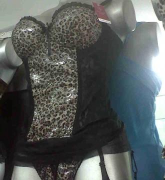 talla unica corsets sexys leopardo