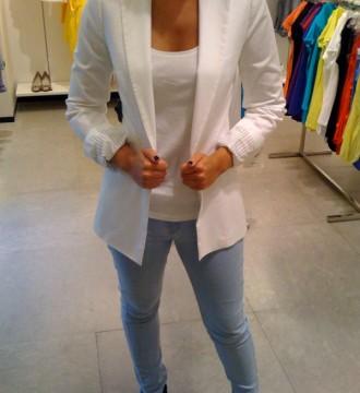 Blazer blanco Zara talla S