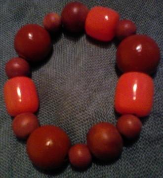 Pulsera cuentas marron/naranja