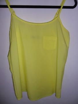 Camiseta de tirantes amarilla T-M