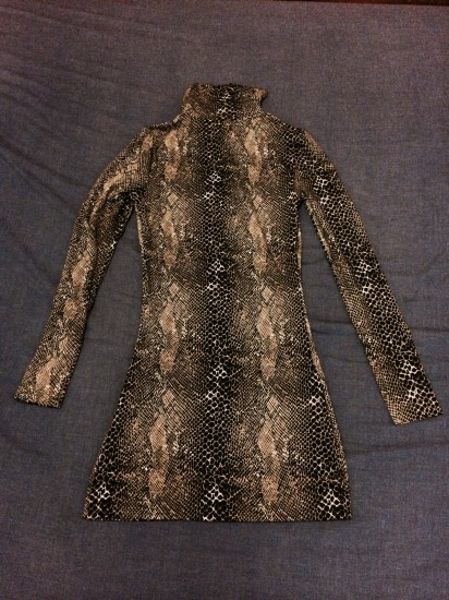Vestido muy sexy ajustado de leopardo