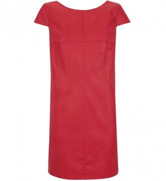 Vestido de polipiel rojo talla M de Suiteblanco