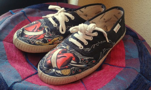 Zapatillas Victoria Oldschool Rockabilly Tattoo
